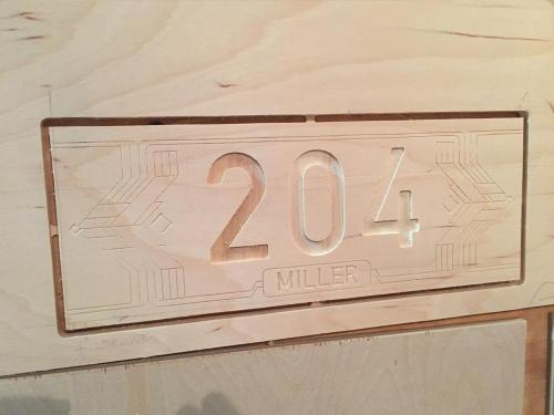 Initial Cutting for Placard