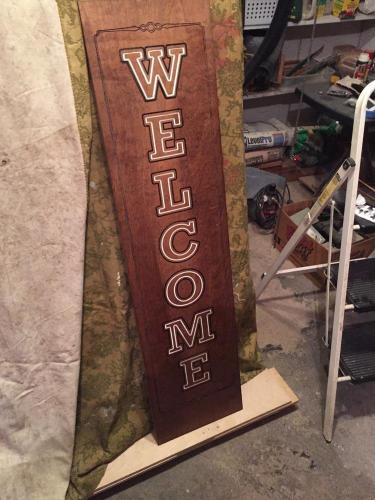 Welcome Sign, Standard - Painted and Finished
